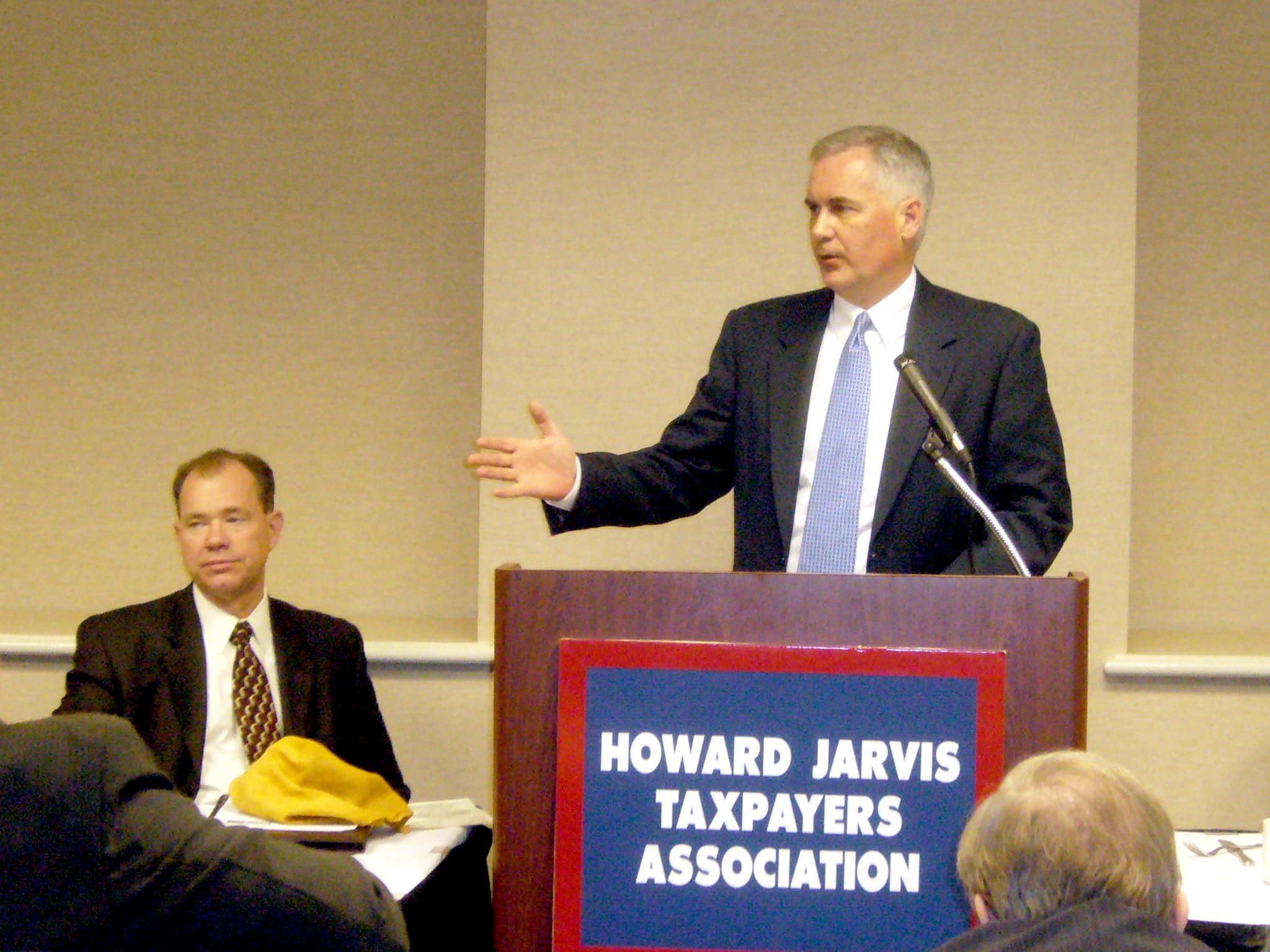 2008 HJTA Conference. Congressman  Tom McClintock addresses participants at the conference