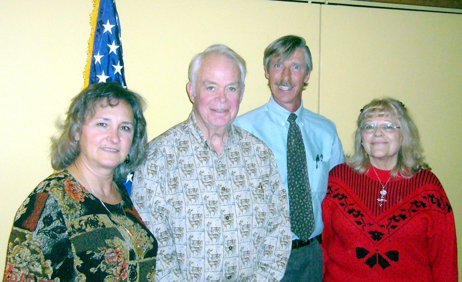 2009 Instalation of Officers: Ourania Riddle, Treasurer; Earl Heal, President; Jim Williams Vice president; Wanda Kiger-Tucker, Secretary