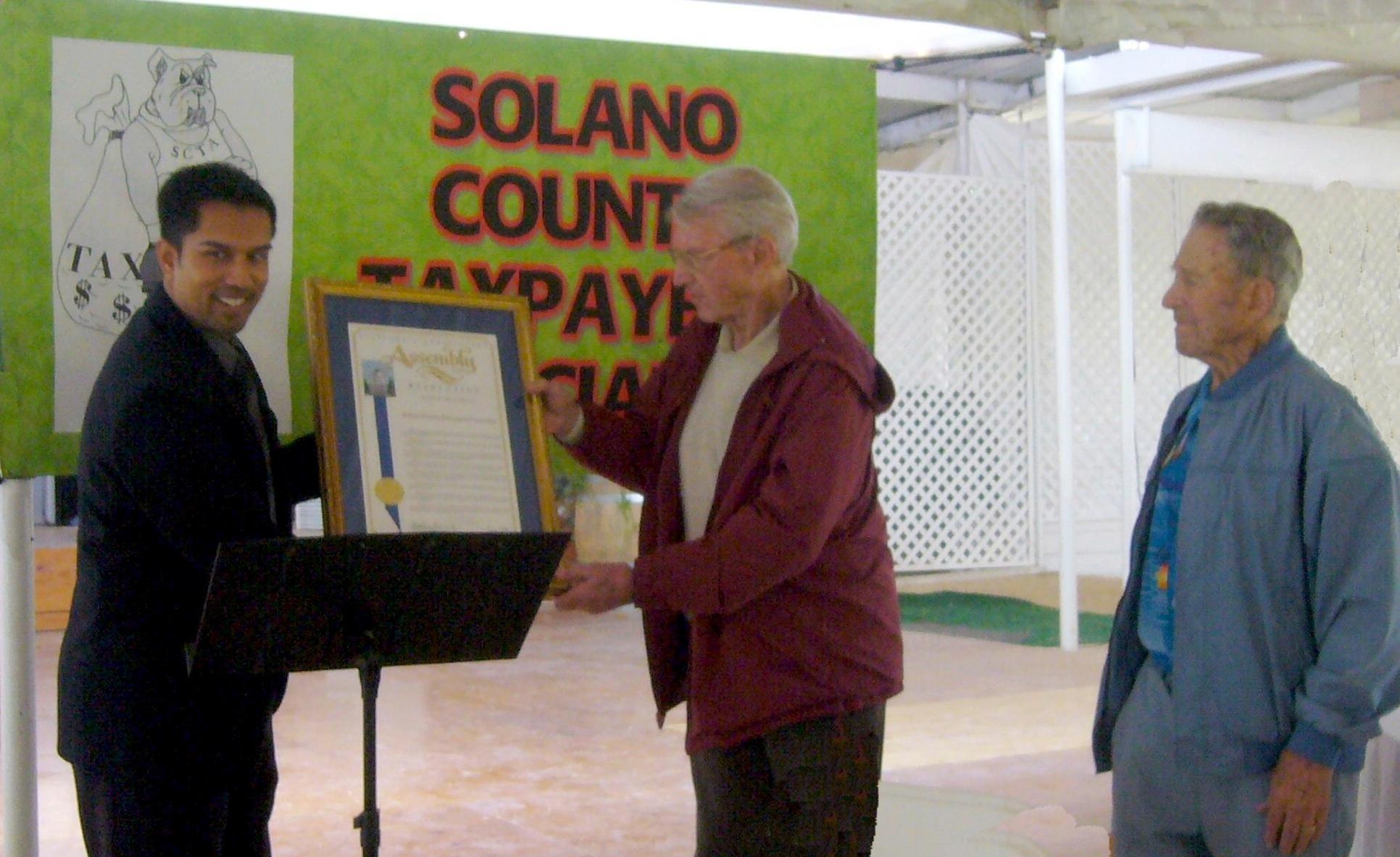 Presentation of the California Legislature Resolution. October 17, 2010