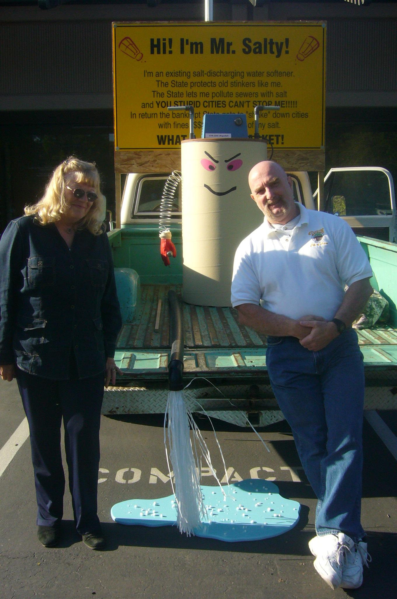 2008, Mr. SALTY. At the Regional Water Quality Control Board. Wanda Kiger-Tucker and Michael Ceremello with Mr. SALTY